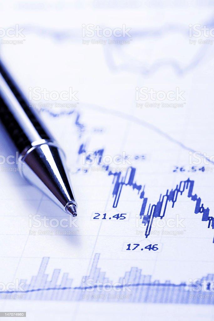 Business Chart - Crash royalty-free stock photo