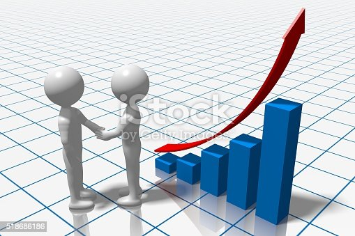 istock 3D business chart 518686186