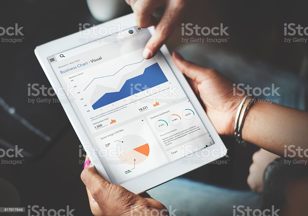 Business Chart Report Statistic Palnning Analysis Concept stock photo