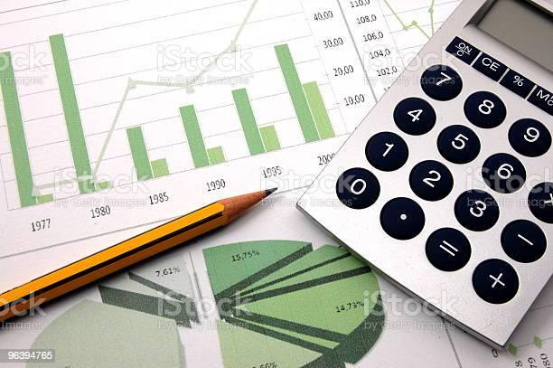 business chart showing success  Analyzing Stock Photo