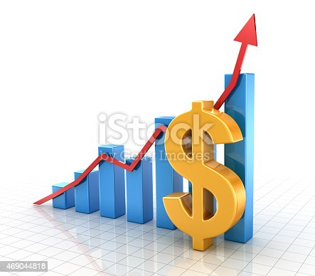 istock Business chart with dollar symbol and finance concept 469044818