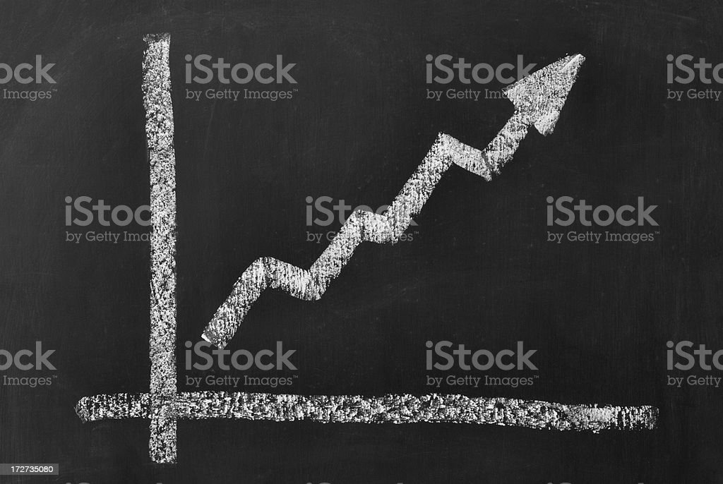 Business chart with positive correlation royalty-free stock photo