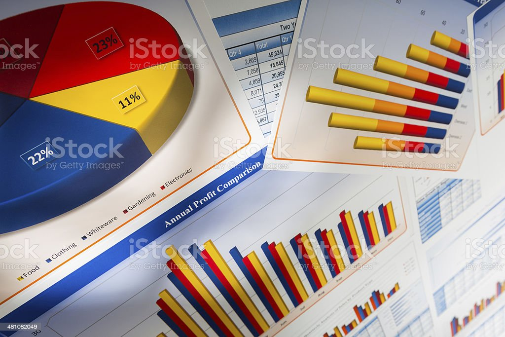 Business Charts and Graphs stock photo