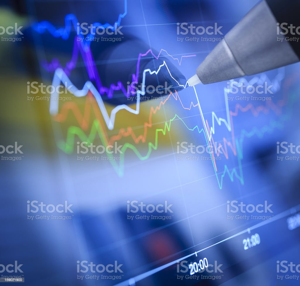 Business charts and markets royalty-free stock photo