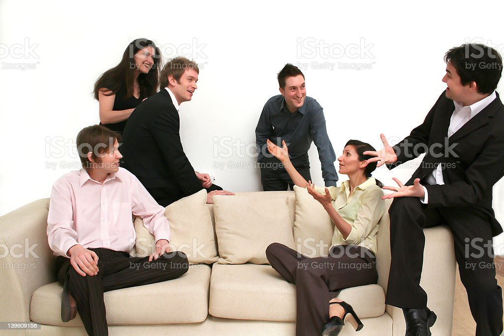 Business Chat - Relaxed Team royalty-free stock photo