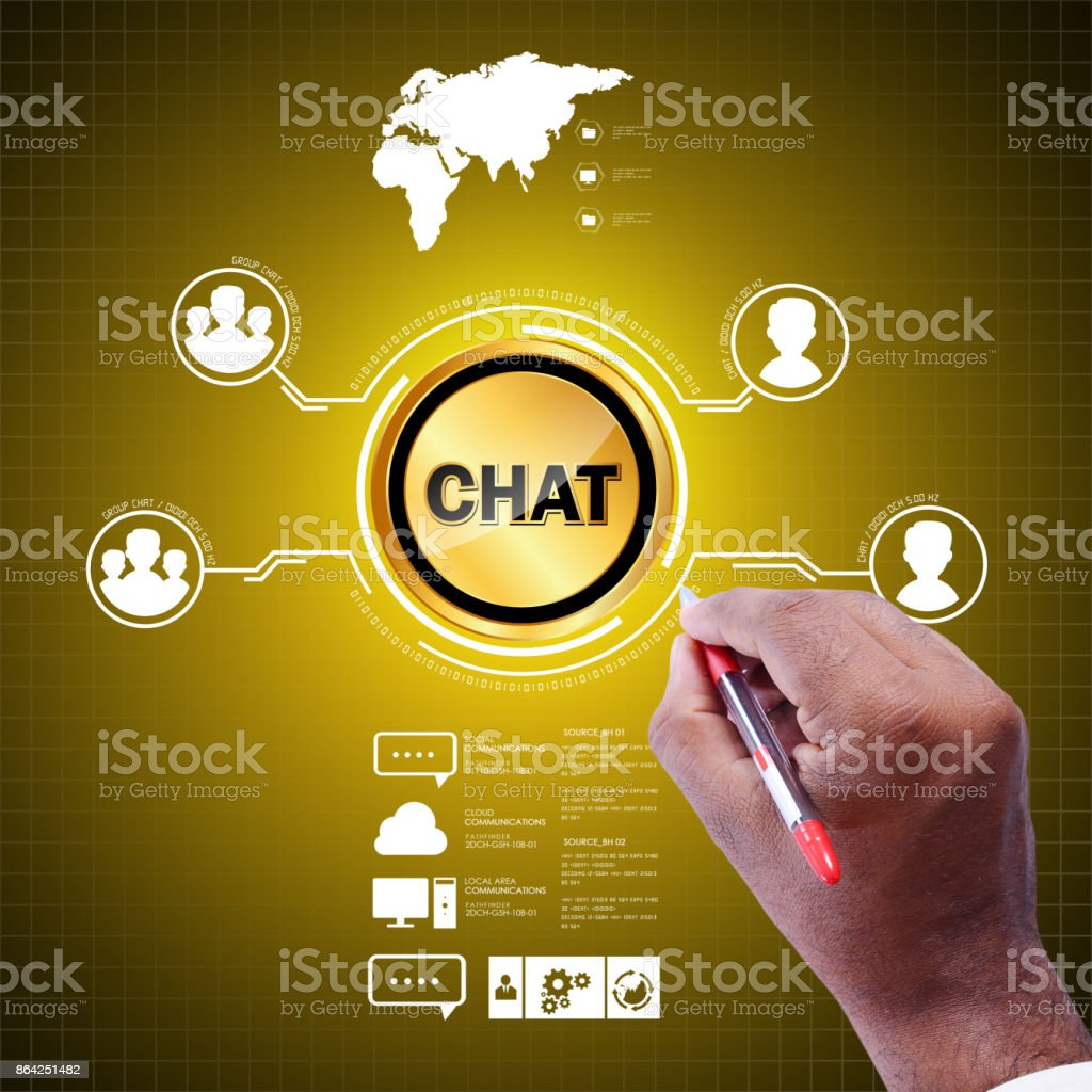 Business chatting concept royalty-free stock photo
