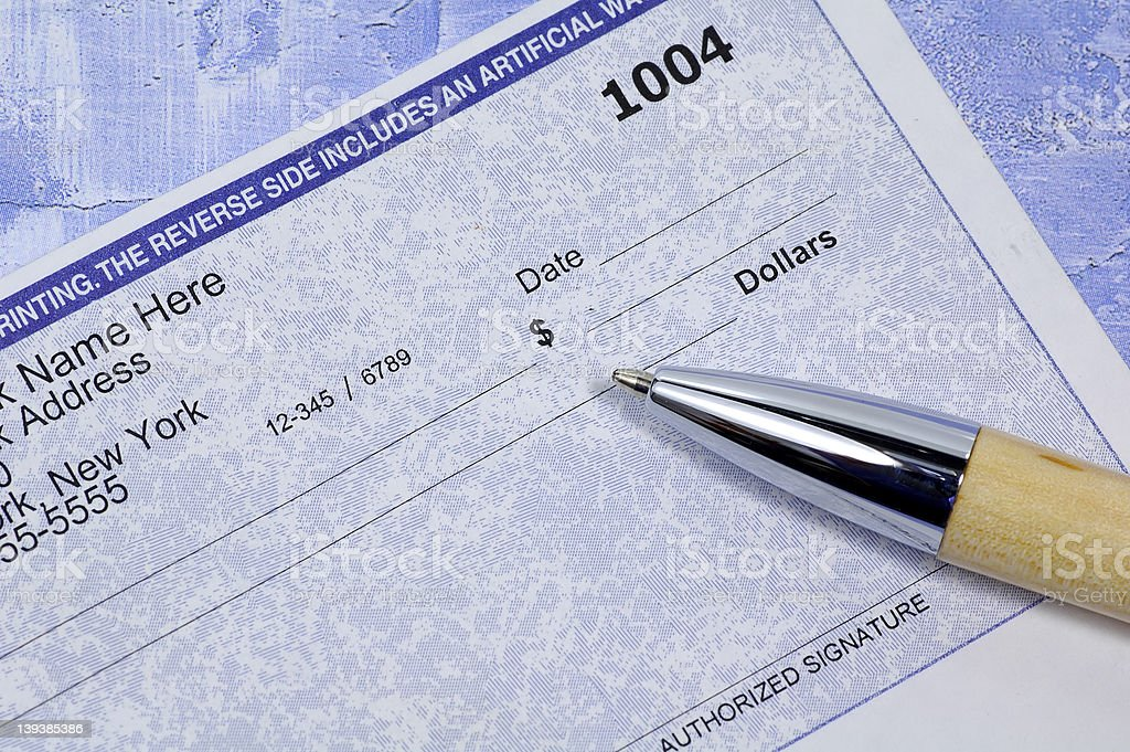 Business Check stock photo