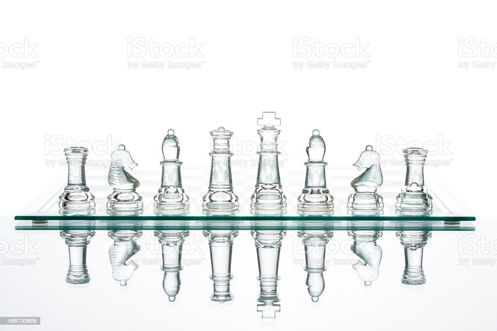 Business choice leadership achievement glass chess transparent - Royalty-free 2015 Stock Photo