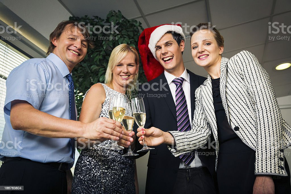 business christmas party royalty-free stock photo