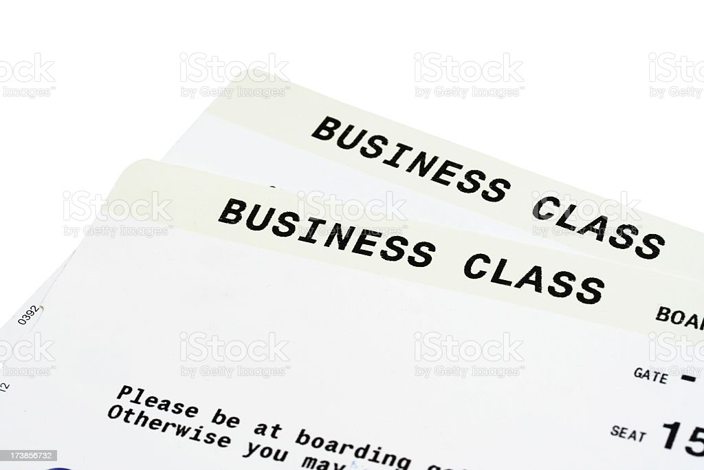 Business Class Flight Tickets royalty-free stock photo