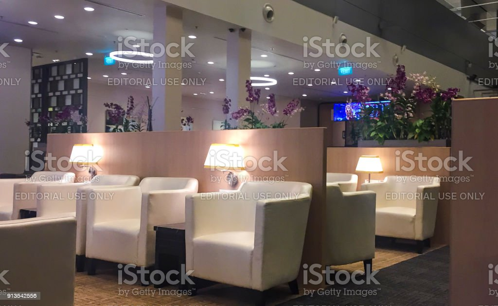 Business Class Lounge stock photo