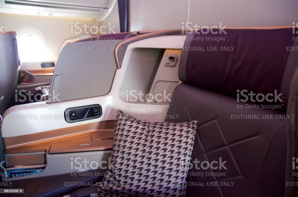 Business Class seat in the Airbus A350 - foto stock