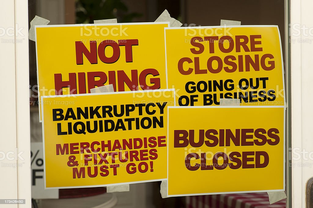 Business Closing stock photo
