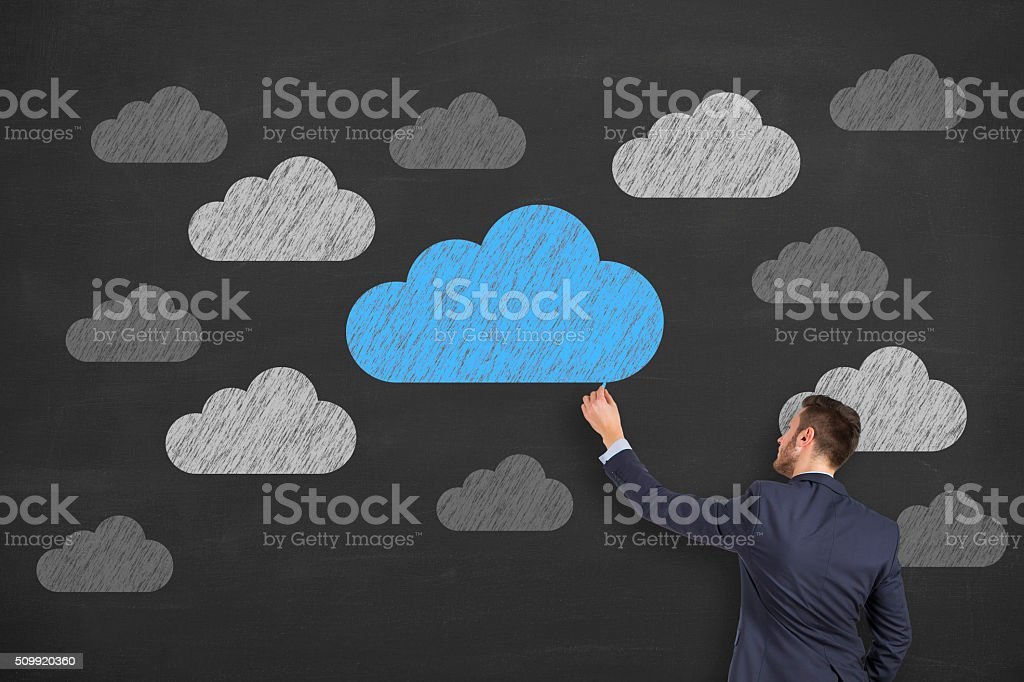 Business Cloud Computing Concept stock photo