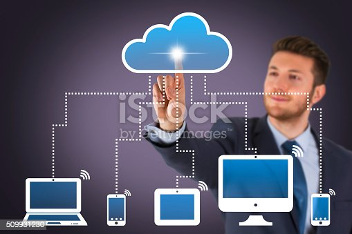 istock Business Cloud Computing on Screen 509931230