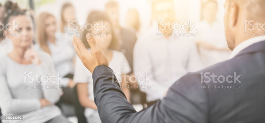 Business coach concept. stock photo