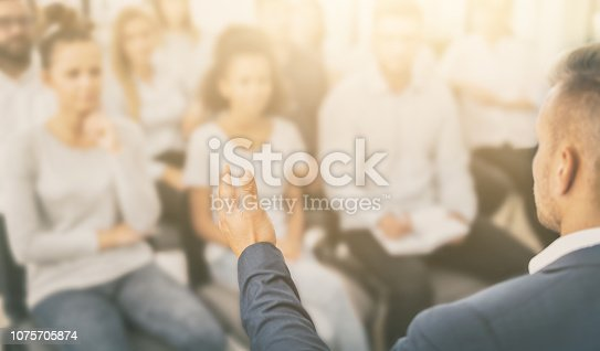 1069233370 istock photo Business coach concept. 1075705874