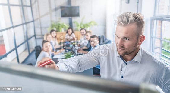 1069233370 istock photo Business coach concept. 1075709436