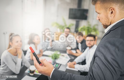 1069233370 istock photo Business coach concept. 1179186398