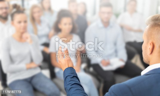 1069233370 istock photo Business coach concept. 1179187773