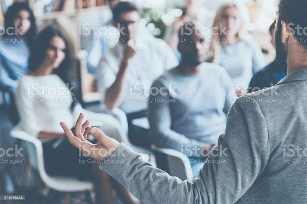 Business coach. stock photo