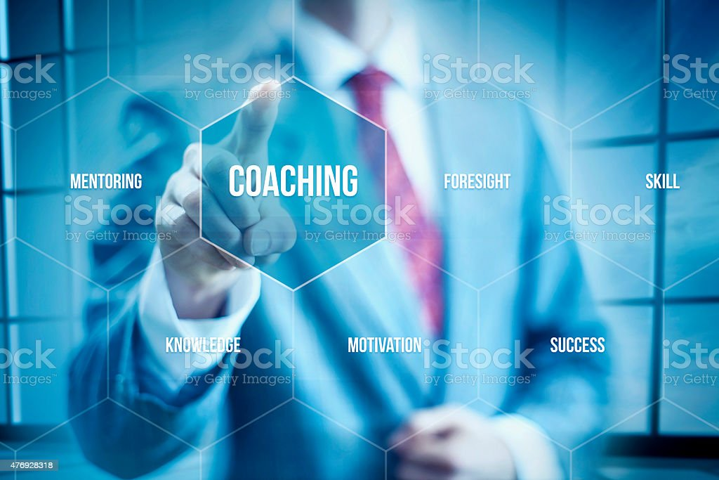 Business coaching stock photo