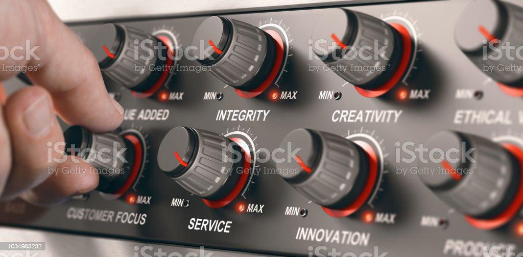 Valores empresariales Codre, servicio de alta calidad - foto de stock