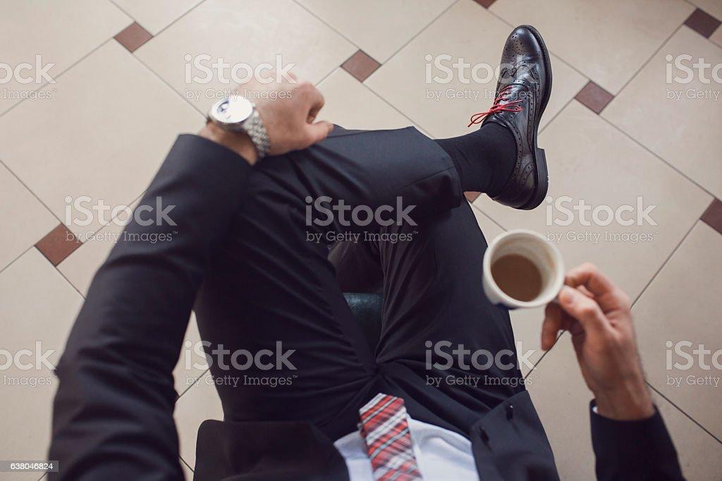 Business coffee stock photo