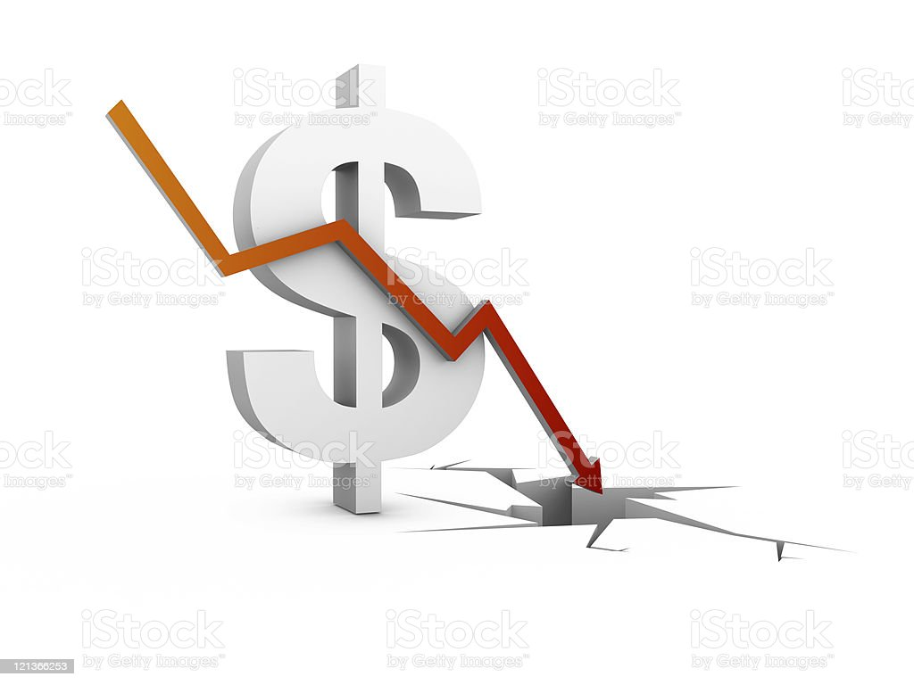 Business Collapse royalty-free stock photo