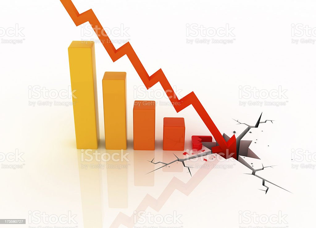 business collapse stock photo