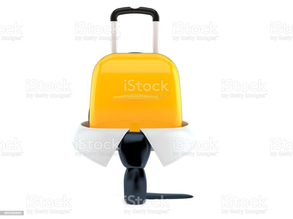 Business collar with suitcase royalty-free stock photo