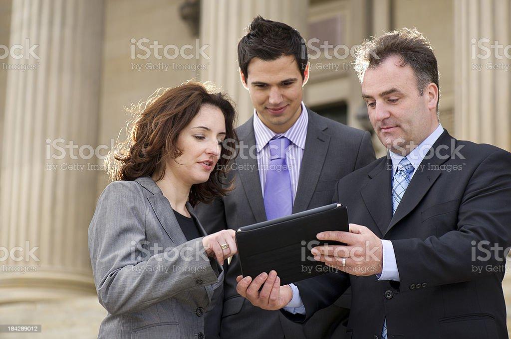 business colleagues al fresco stock photo