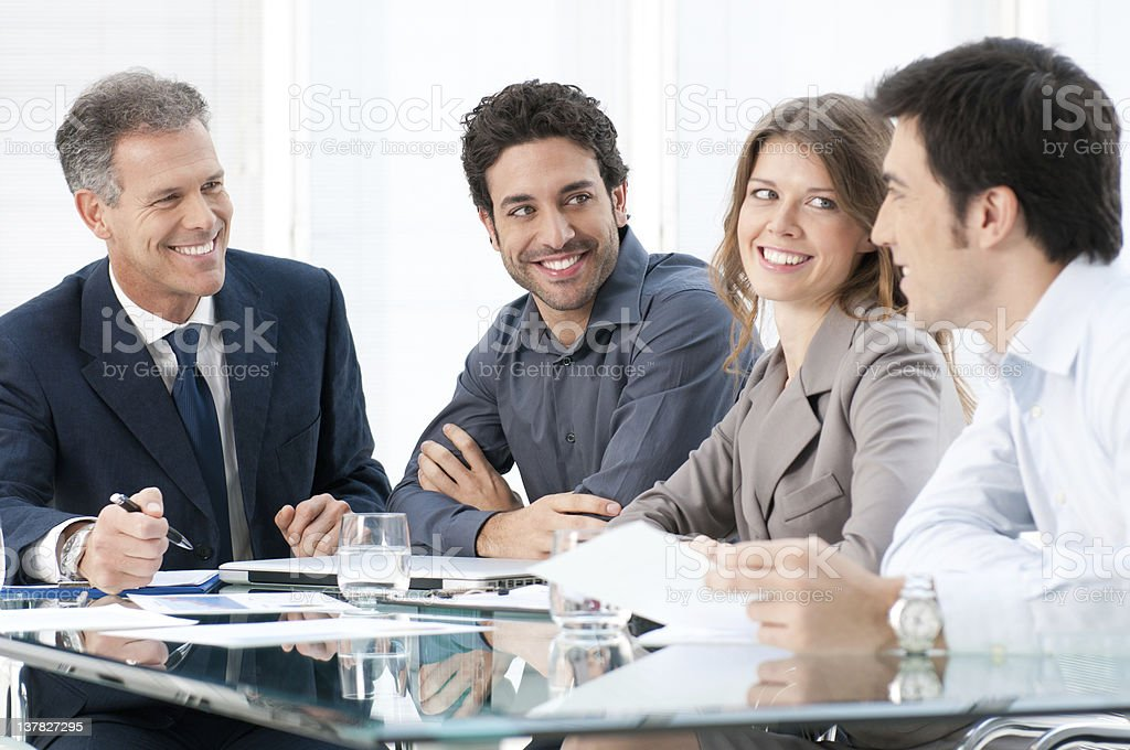 Business colleagues at work royalty-free stock photo