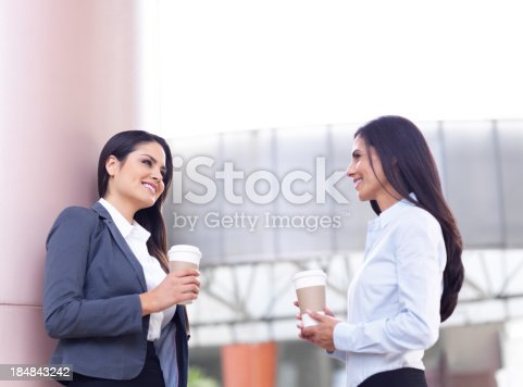 istock Business colleagues drinking coffee 184843242