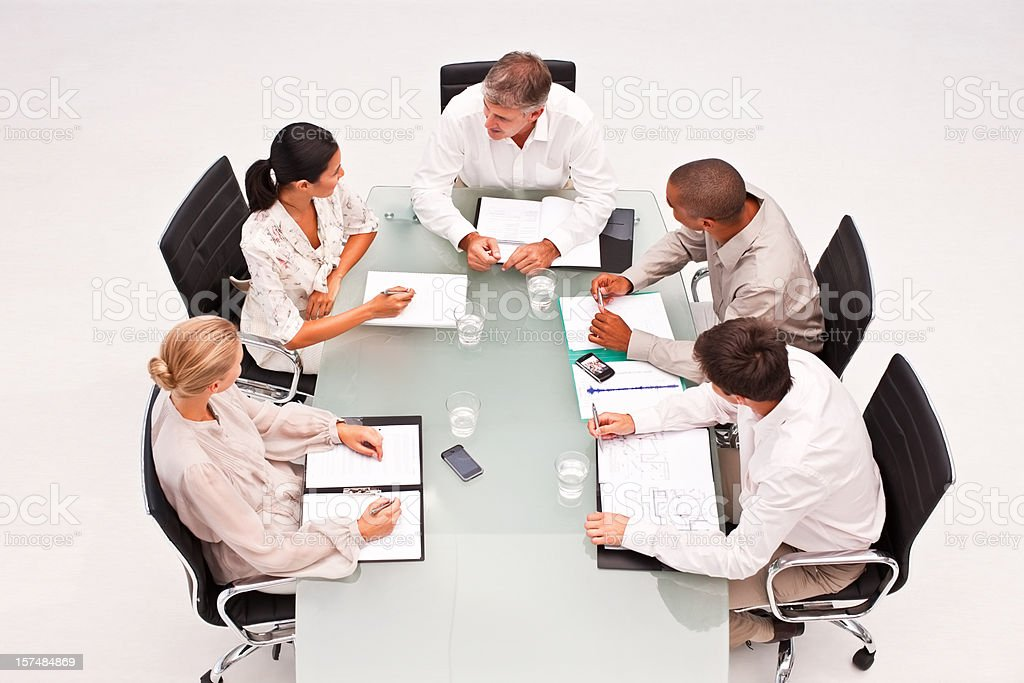 Business colleagues during a meeting in office royalty-free stock photo