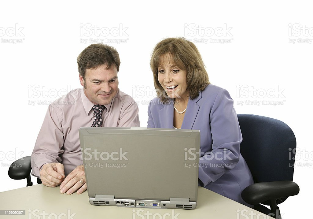 Business Colleagues - Good News royalty-free stock photo