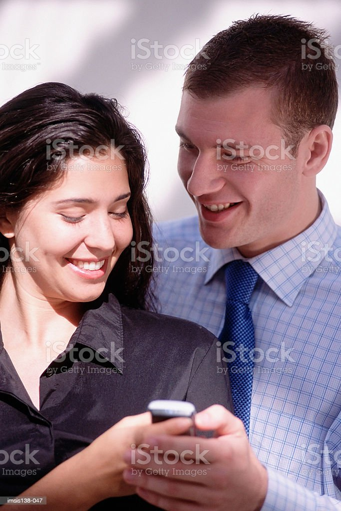 Business colleagues have fun royalty-free stock photo