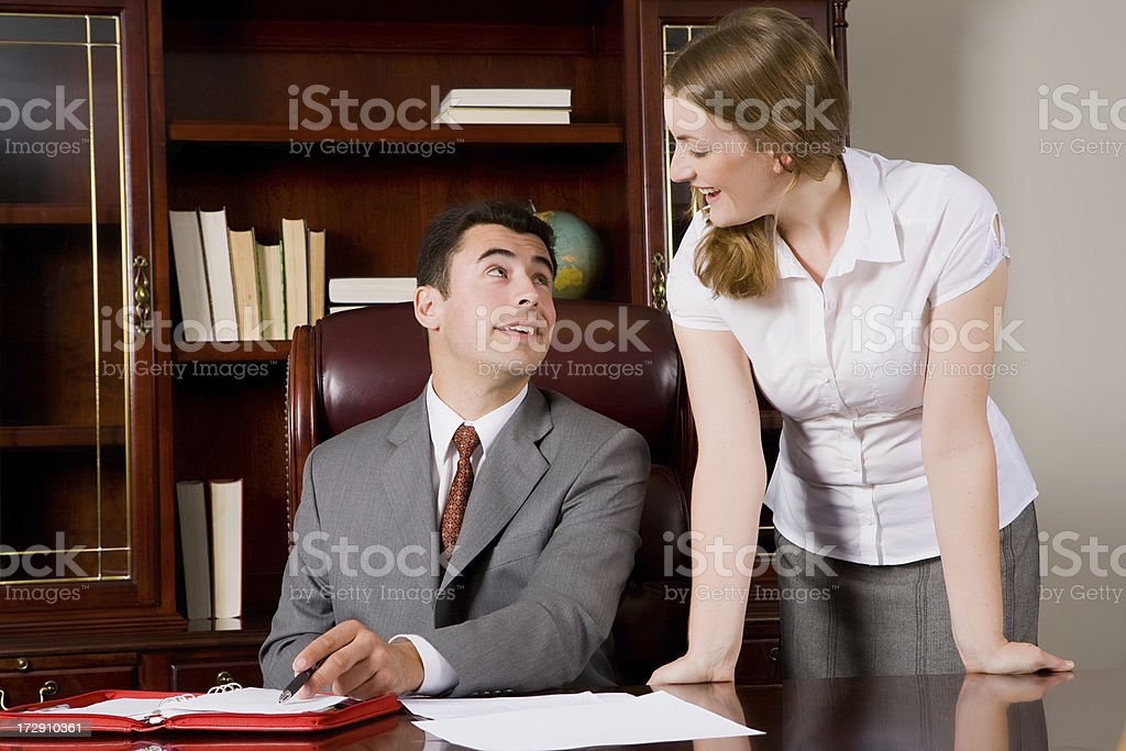 Business colleagues having a discussion royalty-free stock photo