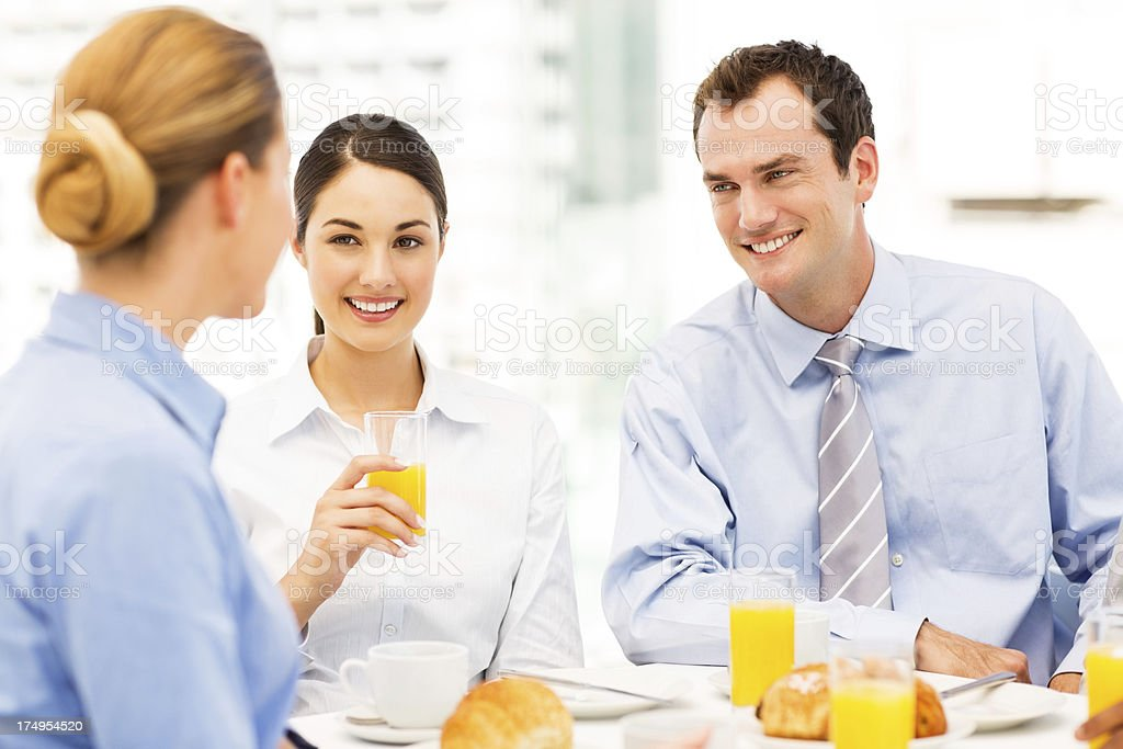 Business Colleagues Having Breakfast royalty-free stock photo