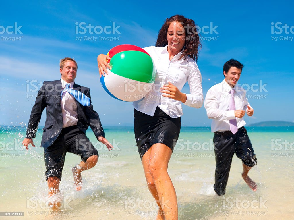 Business Colleagues having fun on Vaccation royalty-free stock photo