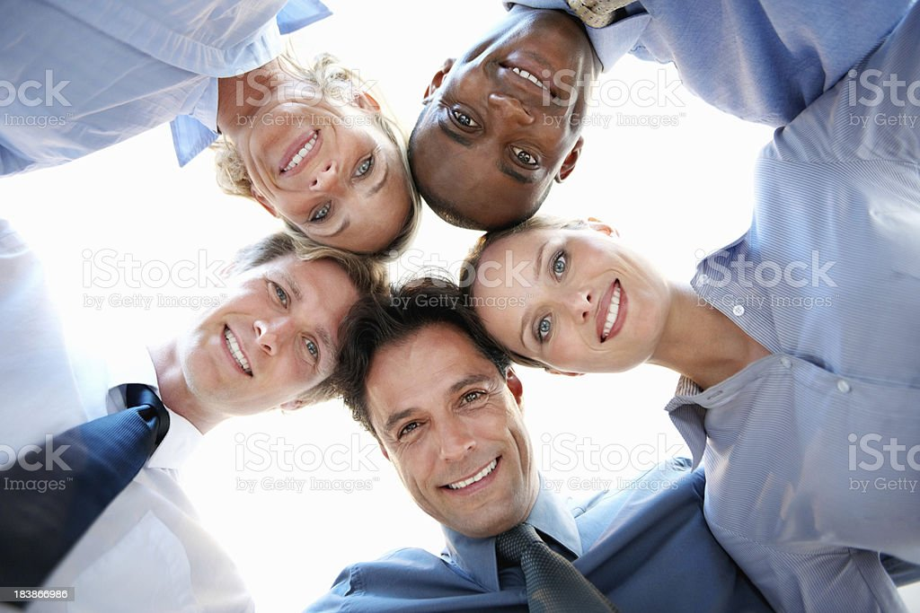 Business colleagues huddling royalty-free stock photo