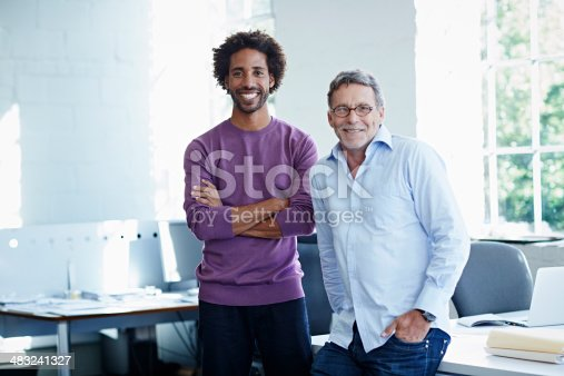 istock Business colleagues in bright office 483241327