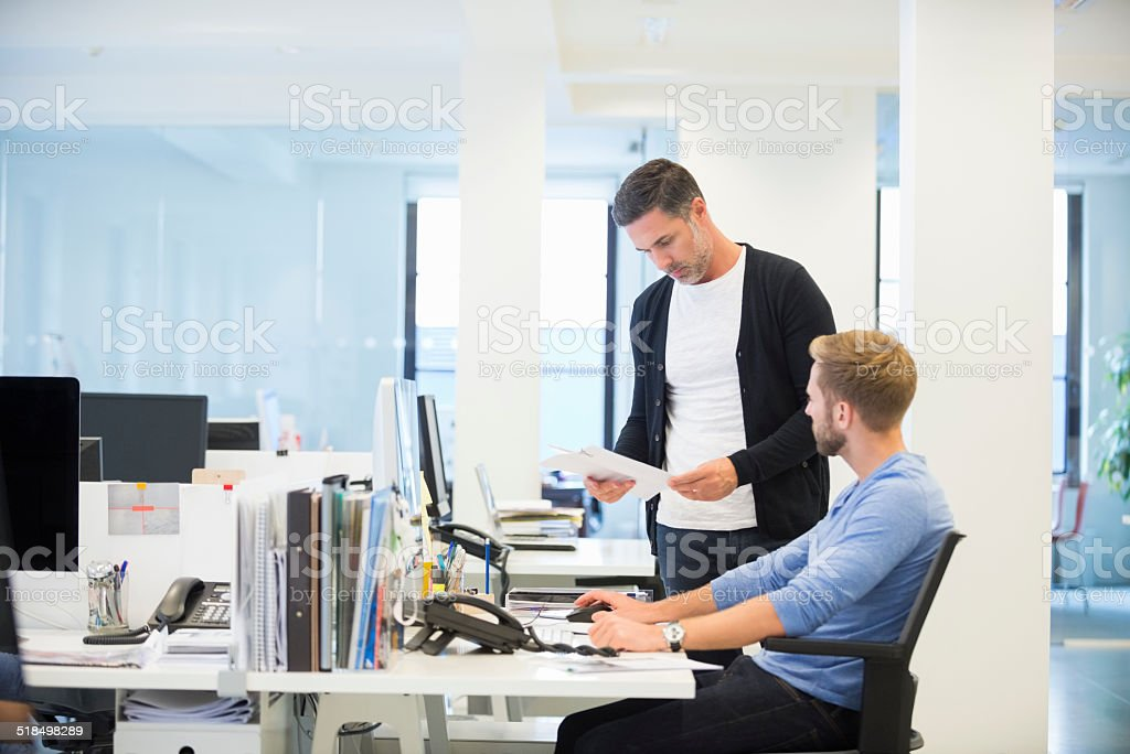 Business colleagues in office stock photo