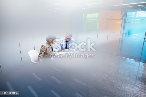 istock Business colleagues meeting together in room 637911832