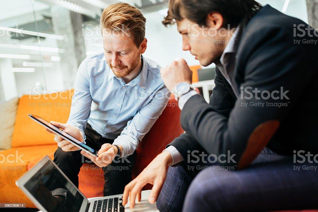 Business colleagues resting during break royaltyfri bildbanksbilder