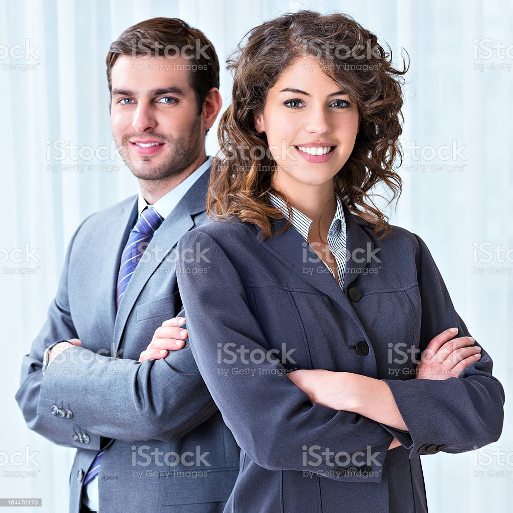 Business colleagues standing together royalty-free stock photo