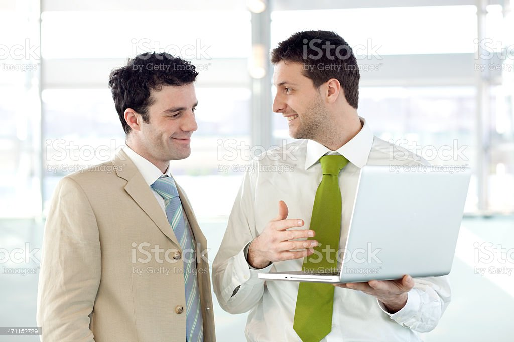 business colleagues work for an agreement royalty-free stock photo