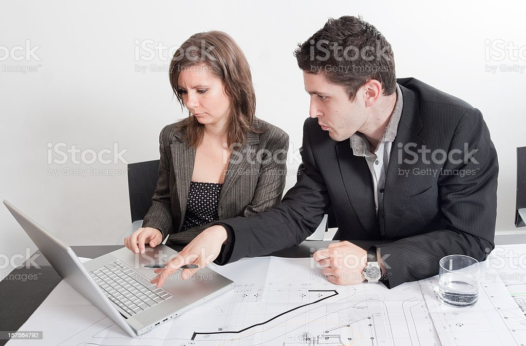 Business colleagues working and training royalty-free stock photo