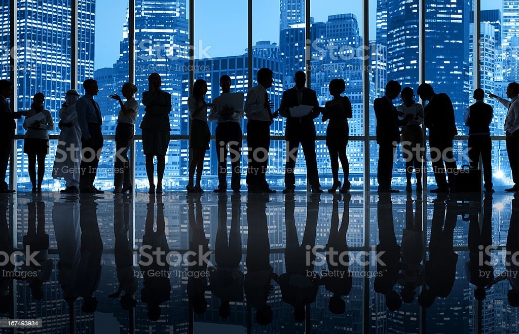 Business colleagues working in New York Office royalty-free stock photo