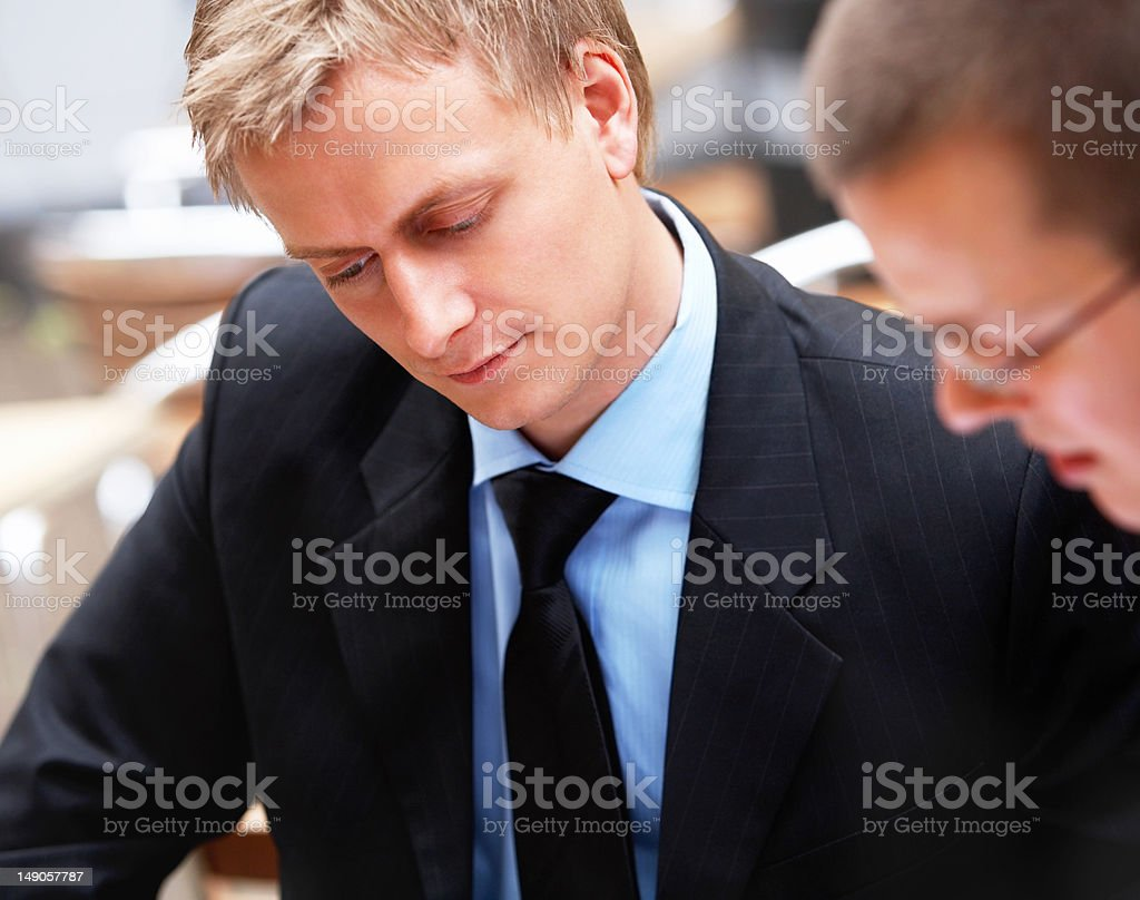 Business colleagues working in office royalty-free stock photo